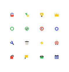Business and protection - colorful material design vector