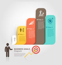 Business goals with speech bubble vector