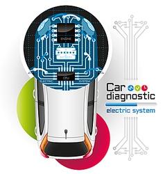 Car diagnostic electric system1 vector