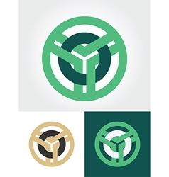 circled emblem vector image vector image
