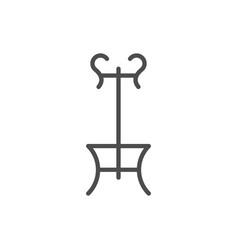 Coat-rack line icon vector