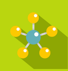 Colorful molecule structure dna icon flat style vector