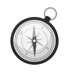 Compass icon in monochrome style isolated on white vector image