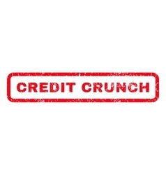 Credit crunch rubber stamp vector