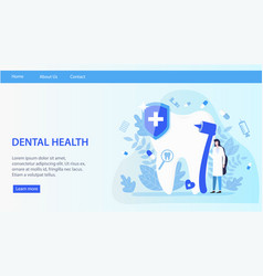 dental health woman dentist with drill tooth vector image