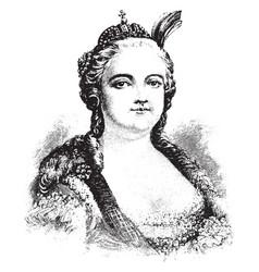 Elizabeth of russia vintage vector