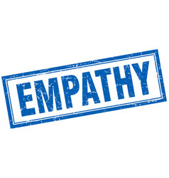 Empathy square stamp vector