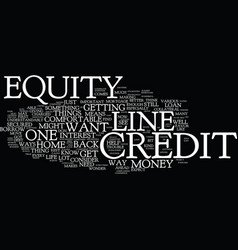 Equitylinecredits text background word cloud vector