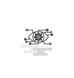 eye setting web icon flat line filled gray icon vector image