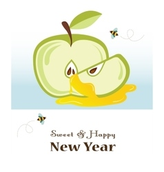 Happy new year rosh hashanah jewish holiday vector
