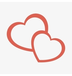 Hearts crossing love icon vector