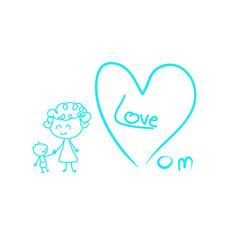 I love mom vector