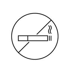 icon are no smoking vector image