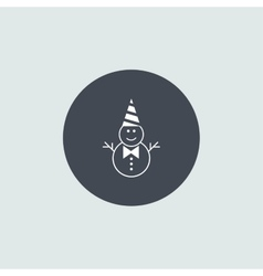 Icon Christmas snowman for holiday season vector image