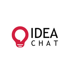 idea chat logo vector image