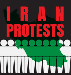 Iran protests vector