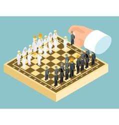 Isometric 3d business chess figures Business vector image