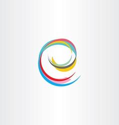 Letter e colorful symbol vector