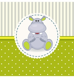Little hippopotamus baby vector