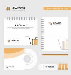 Luggage cart logo calendar template cd cover vector