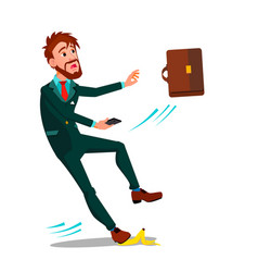 man in business suit with a briefcase and a vector image