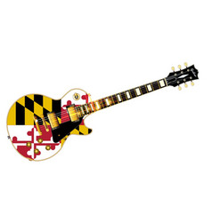 Maryland state flag guitar vector