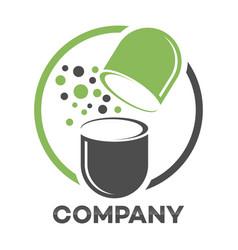 Medicine capsule logo vector