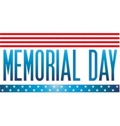 memorial day 2021 text american flag border vector image