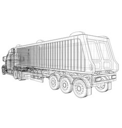 Modern cargo truck isolated on white background vector