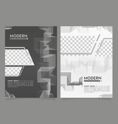 Modern cover template with abstract design vector