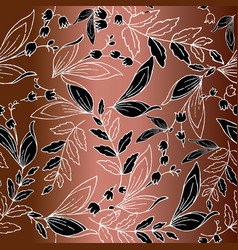 modern floral line art tracery seamless pattern vector image
