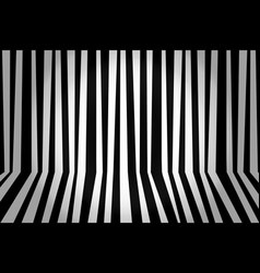 monochrome background striped room in black and vector image