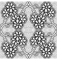 Monochrome lace pattern Background for greeting vector image
