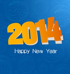 new year label design vector image