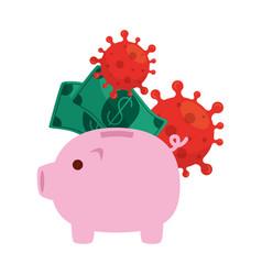 piggy bank icon saving or accumulation money vector image