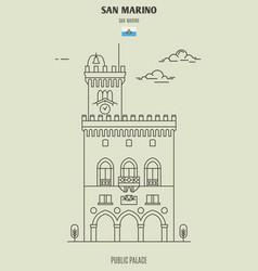 public palace in san marino vector image