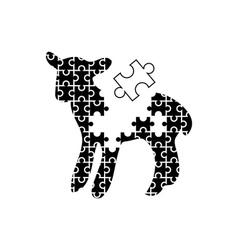 puzzle-lamb vector image