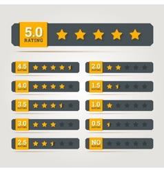 Rating stars badges vector