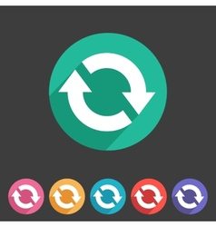 Refresh reload flat icon badge vector