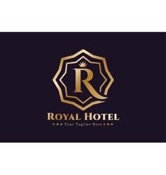 Royal logo template hotel vector image