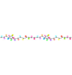 Seamless festive multi-colored glowing garland vector