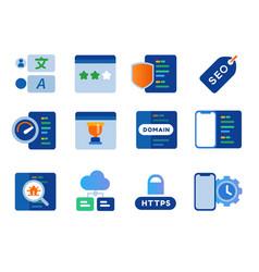 Seo search engine optimization website performance vector