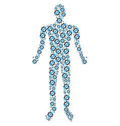 service tools human figure vector image