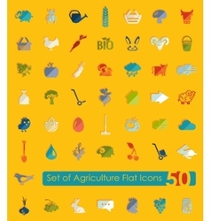 Set of agriculture icons vector image