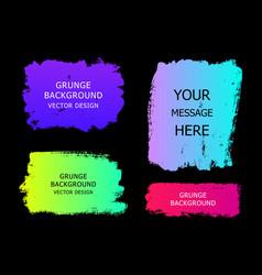 set of trendy gradient grunge paint background vector image