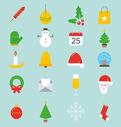 Set xmas icons vector
