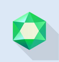 shiny emerald icon flat style vector image