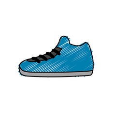Sneakers element to do exercise with fashion style vector