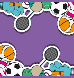 Sport sticker patch background design vector