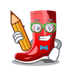 Student single of boots isolated on mascot vector